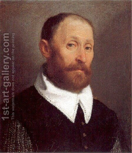 Portrait of a Man 1570 by Giovanni Battista Moroni - Reproduction Oil Painting
