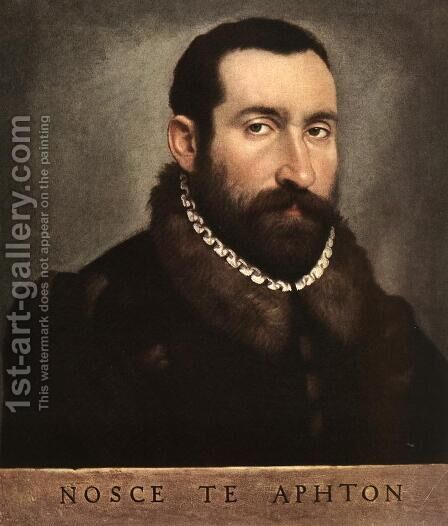 Portrait of a Man (3) by Giovanni Battista Moroni - Reproduction Oil Painting