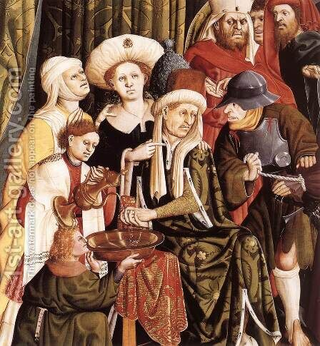 Christ before Pilate (detail-1) 1437 by Hans Multscher - Reproduction Oil Painting