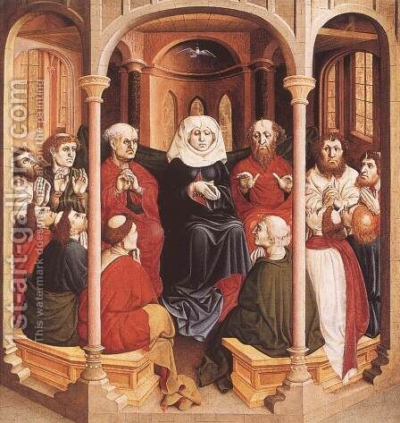 Pentecost 1437 by Hans Multscher - Reproduction Oil Painting