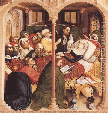 The Death of the Virgin 1437 by Hans Multscher - Reproduction Oil Painting