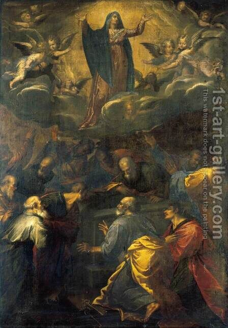 Assumption of the Virgin 1581-83 by Girolamo Muziano - Reproduction Oil Painting