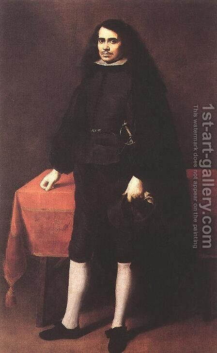 Portrait of a Gentleman in a Ruff Collar c. 1670 by Bartolome Esteban Murillo - Reproduction Oil Painting