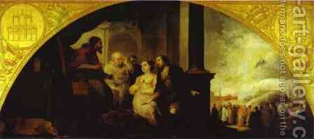 Patrician John Reveals his Dream to Pope Liberius 1665 by Bartolome Esteban Murillo - Reproduction Oil Painting