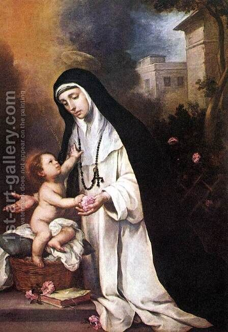 St Rose of Lima by Bartolome Esteban Murillo - Reproduction Oil Painting