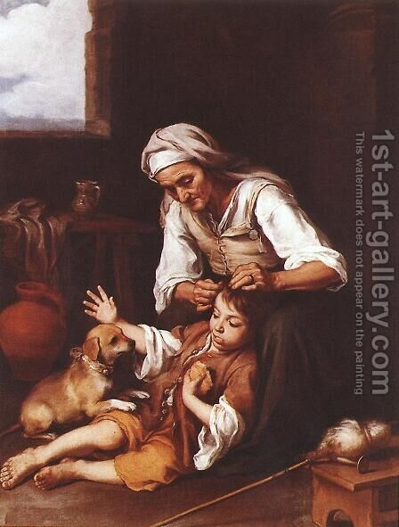The Toilette 1670-75 by Bartolome Esteban Murillo - Reproduction Oil Painting