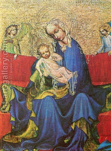 Madonna 1400 by Master of the Neuhaus Madonna - Reproduction Oil Painting