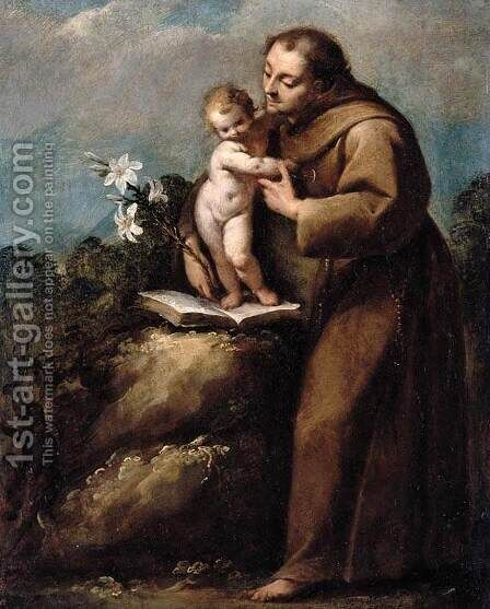 St Anthony of Padua and the Infant Christ by Carlo Francesco Nuvolone - Reproduction Oil Painting