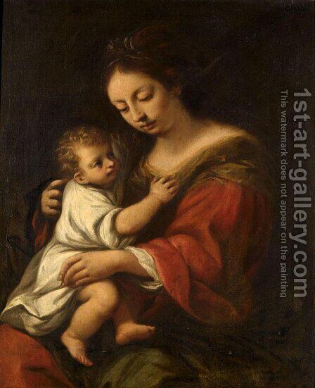 Madonna and Child by Giuseppe Nuvolone - Reproduction Oil Painting