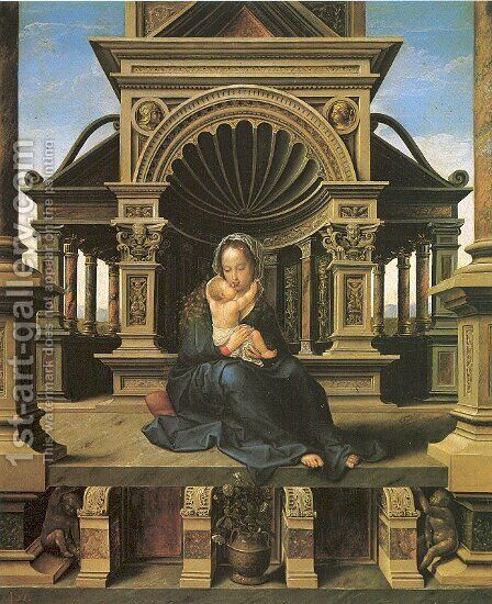 The Virgin of Louvain 1520 by Bernaert van Orley - Reproduction Oil Painting