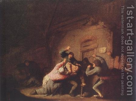 Brawl by Adriaen Jansz. Van Ostade - Reproduction Oil Painting