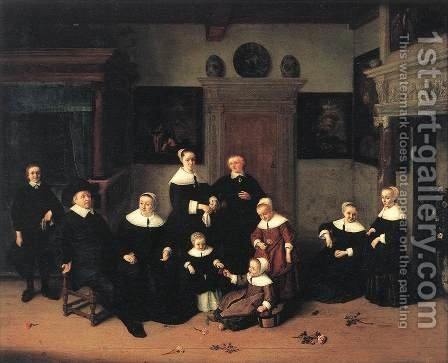 Portrait of a Family 1654 by Adriaen Jansz. Van Ostade - Reproduction Oil Painting