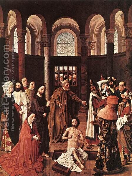 The Raising of Lazarus c. 1455 by Aelbert van Ouwater - Reproduction Oil Painting