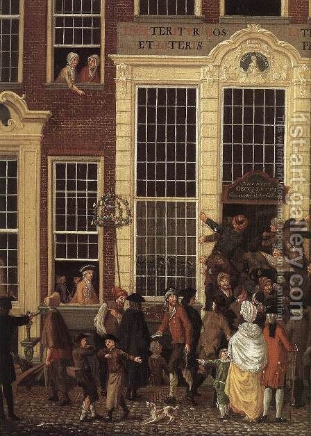 The Lottery Office (detail) 1779 by Isaak Ouwater - Reproduction Oil Painting