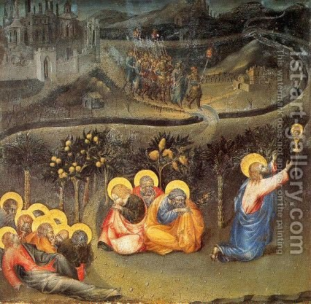The Agony in the Garden 1445 by Giovanni di Paolo - Reproduction Oil Painting