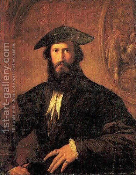 Portrait of a Man by Girolamo Francesco Maria Mazzola (Parmigianino) - Reproduction Oil Painting