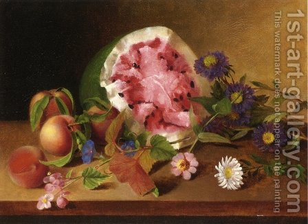 Still Life with Watermelon 1829 by James Peale - Reproduction Oil Painting