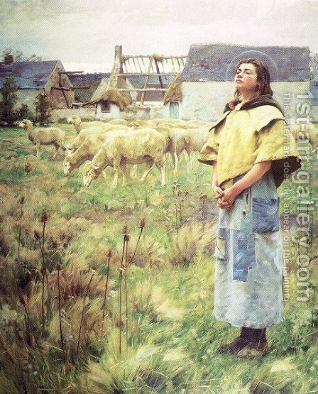 Sainte Genevieve 1887 by Charles Sprague Pearce - Reproduction Oil Painting