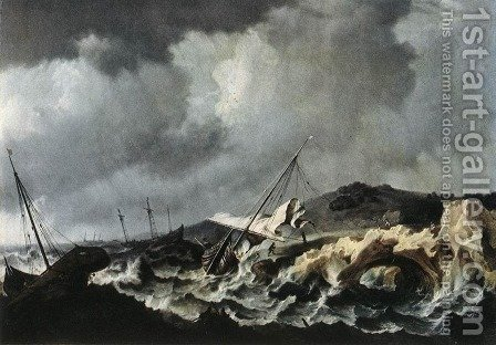 Shipwreck by Bonaventura, the Elder Peeters - Reproduction Oil Painting