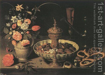 Still-life 1611 by Clara Peeters - Reproduction Oil Painting