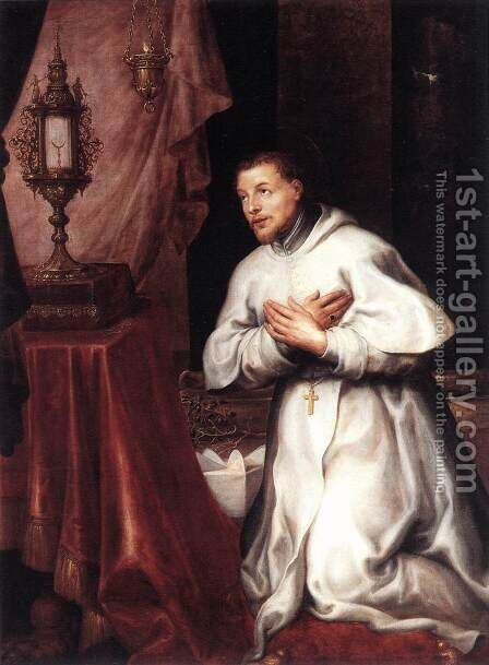 St Norbert 1637 by Marten Pepijn - Reproduction Oil Painting