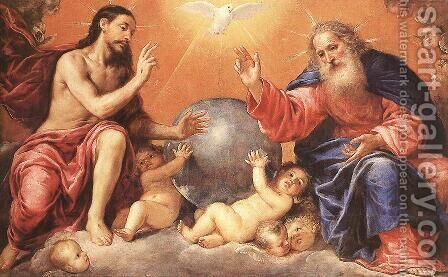 The Holy Trinity by Antonio de Pereda - Reproduction Oil Painting