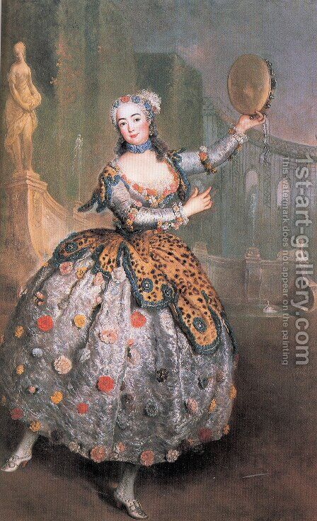 The Dancer Barbara Campanini 1745 by Antoine Pesne - Reproduction Oil Painting