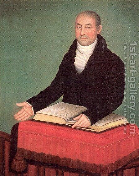 Reverend Jonas Coe 1820 by Ammi Phillips - Reproduction Oil Painting