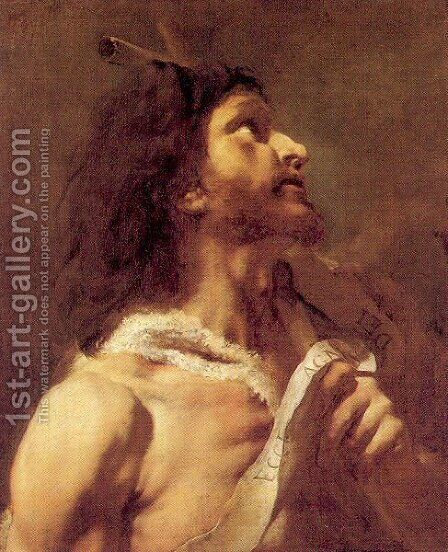 St. John the Baptist 1740-50 by Giovanni Battista Piazzetta - Reproduction Oil Painting