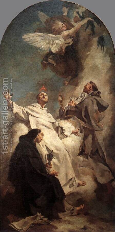 Three Dominican Saints 1738 by Giovanni Battista Piazzetta - Reproduction Oil Painting